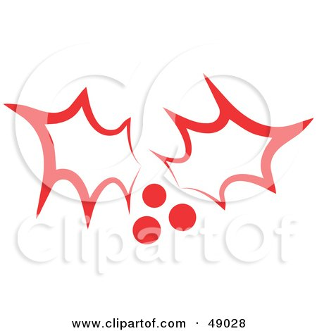 Royalty-Free (RF) Clipart Illustration of Red Christmas Holly by Prawny