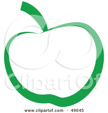 Royalty-Free (RF) Clipart Illustration of a Green Apple by Prawny