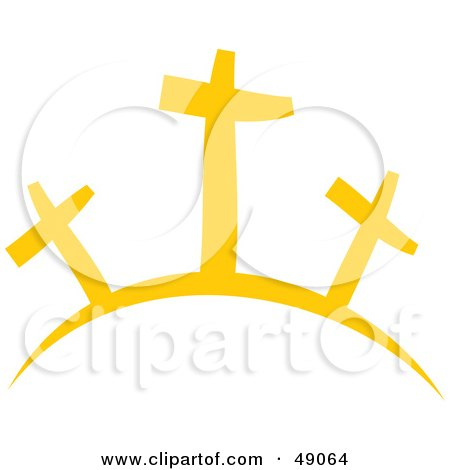 Royalty-Free (RF) Clipart Illustration of Crosses on a Hill by Prawny