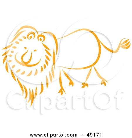 Happy Orange Lion Posters, Art Prints