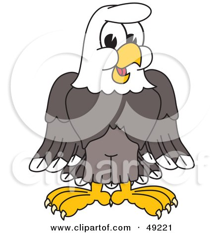 Royalty-Free (RF) Clipart Illustration of a Bald Eagle Character by Toons4Biz