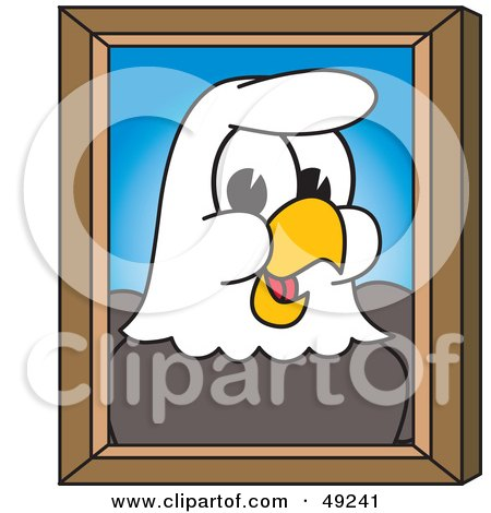 Royalty-Free (RF) Clipart Illustration of a Bald Eagle Character Portrait by Toons4Biz