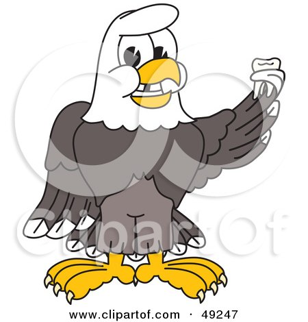 Royalty-Free (RF) Clipart Illustration of a Bald Eagle Character Holding a Tooth  by Toons4Biz