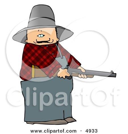 Angry Farmer with a Shotgun Posters, Art Prints
