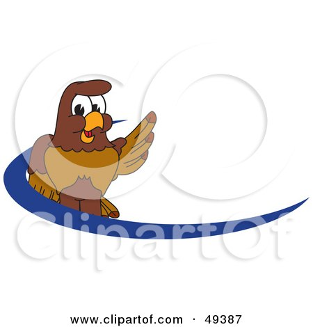 Royalty-Free (RF) Clipart Illustration of a Falcon Mascot Character Dash Logo  by Toons4Biz
