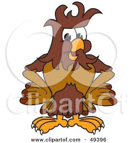 Royalty-Free (RF) Clipart Illustration of a Falcon Mascot Character With Messy Hair by Toons4Biz