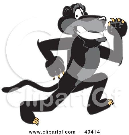 Black Jaguar Mascot Character Running Posters, Art Prints