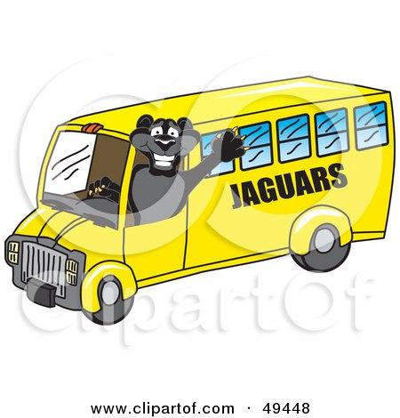 Black Jaguar Mascot Character School Bus Driver Posters, Art Prints