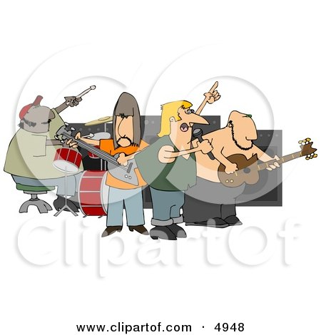 Royalty-Free (RF) Rock Music Clipart, Illustrations, Vector ...