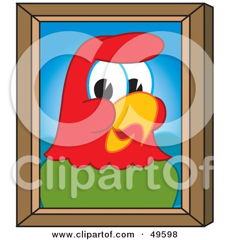 Royalty-Free (RF) Clipart Illustration of a Macaw Parrot Character Mascot Portrait by Toons4Biz
