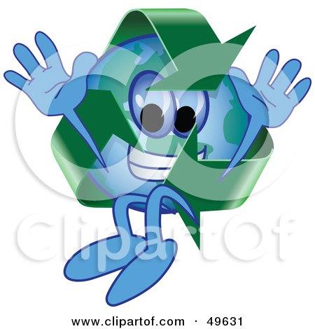 Recycle Character Mascot Jumping Posters, Art Prints
