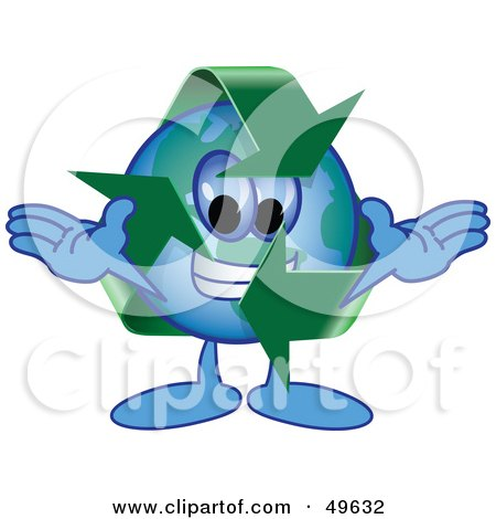 Royalty-Free (RF) Clipart Illustration of a Recycle Character Mascot by Toons4Biz