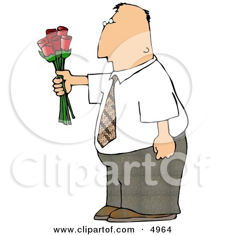 Man Giving Flowers Posters, Art Prints
