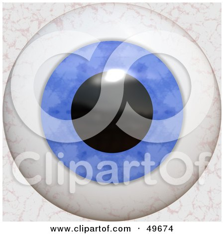 Royalty-Free (RF) Clipart Illustration of a Blue Bloodshot Eyeball by Arena Creative