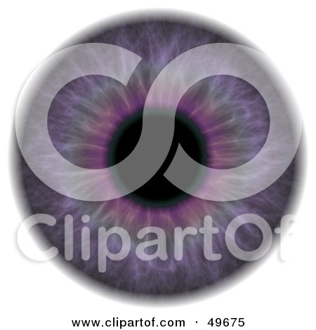 Royalty-Free (RF) Clipart Illustration of a Purple Eyeball on White by Arena Creative