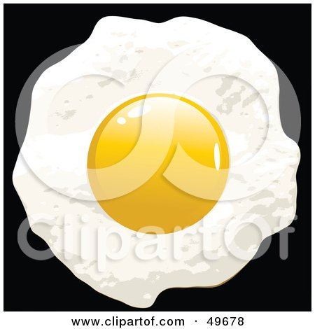 Royalty-Free (RF) Clipart Illustration of a Fried Egg With The Yolk On Top by Arena Creative