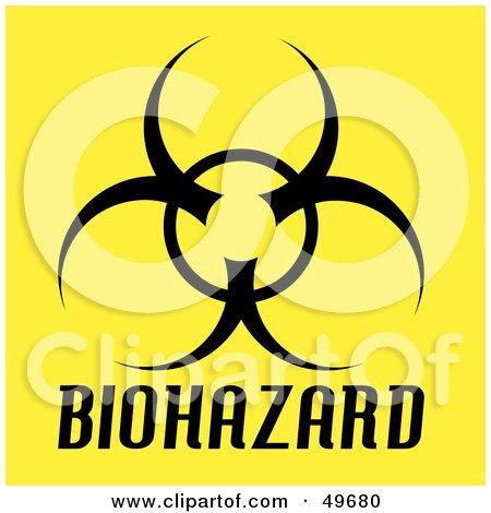 Royalty Free Rf Clipart Illustration Of A Flaming Biohazard Symbol
