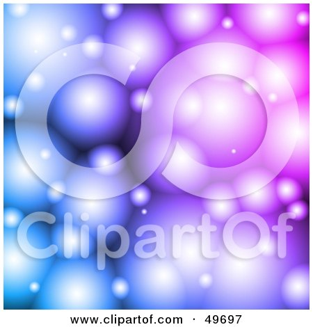 Royalty-Free (RF) Clipart Illustration of a Purple And Blue Fantasy Bubble Background by Arena Creative
