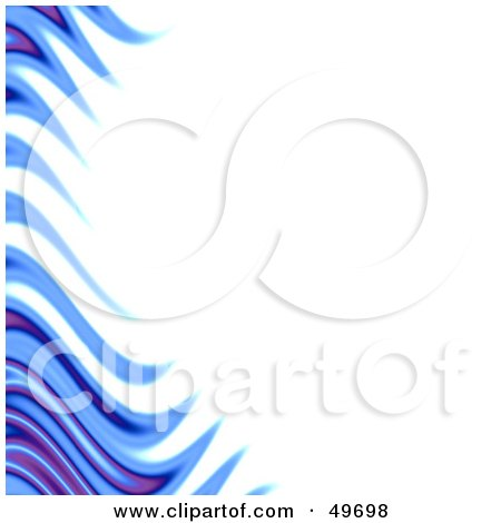 Royalty-Free (RF) Clipart Illustration of a Border of Blue and Purple Flames on White by Arena Creative