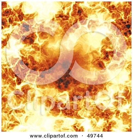 Royalty-Free (RF) Clipart Illustration of a Flaming Fire Background by Arena Creative