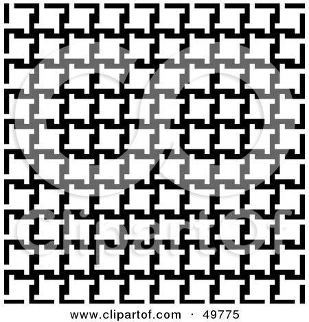 Royalty-Free (RF) Clipart Illustration of a Background Of Black And White Houndstooth Patterns by Arena Creative