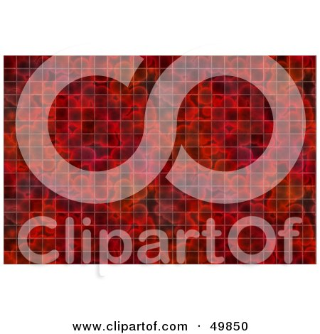 Royalty-Free (RF) Clipart Illustration of a Red Blood Grid Background by Arena Creative