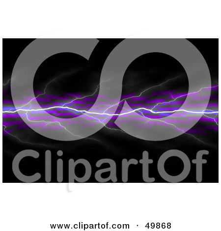 Royalty-Free (RF) Clipart Illustration of a Bolt Of Purple Lightning On A Checkered And Black Background by Arena Creative