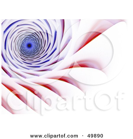 Royalty-Free (RF) Clipart Illustration of a Red and Blue Tunnel on White by Arena Creative