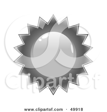 Royalty-Free (RF) Clipart Illustration of a Blank Silver Quality Seal by Arena Creative