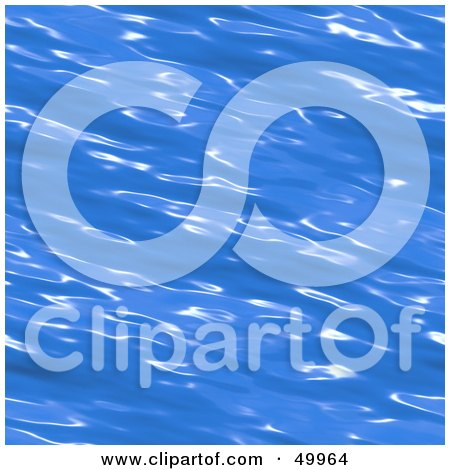 Royalty-Free (RF) Clipart Illustration of a Brilliant Blue Rippling Water Surface Background by Arena Creative