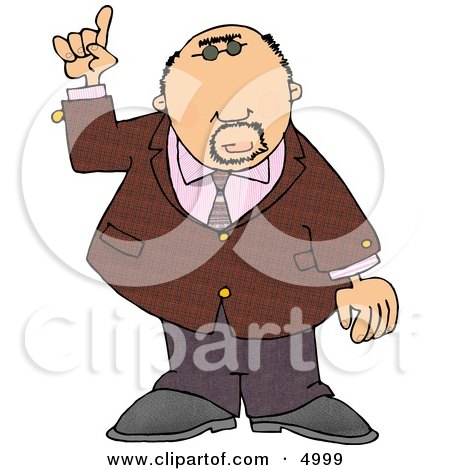 Well Dressed Man Pointing Finger Up Posters, Art Prints