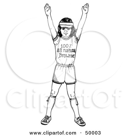 Royalty-Free (RF) Clipart Illustration of a Happy Brownie Girl in Her Uniform by LoopyLand