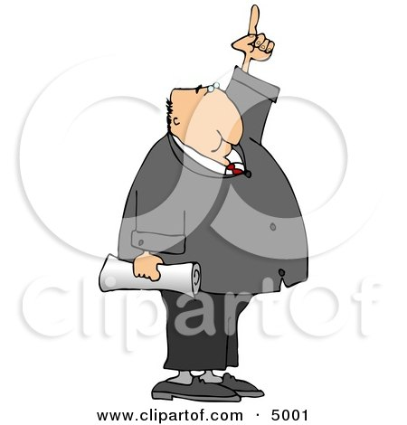 Businessman Pointing Finger Up Posters, Art Prints