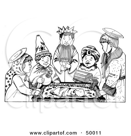 Royalty-Free (RF) Nativity Scene Clipart, Illustrations, Vector ...