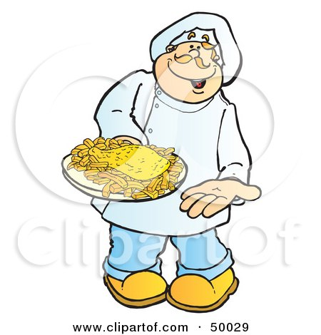 clip art fish and chips. Clipart Illustration of a