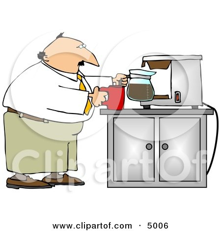 Businessman Getting a Cup of Coffee Clipart by djart