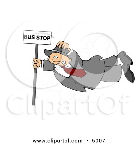 Person Getting Blown Around in the Wind Clipart by djart