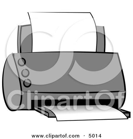 Standard Office Paper Printer Clipart by djart