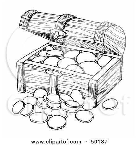 of a Wooden Treasure C...