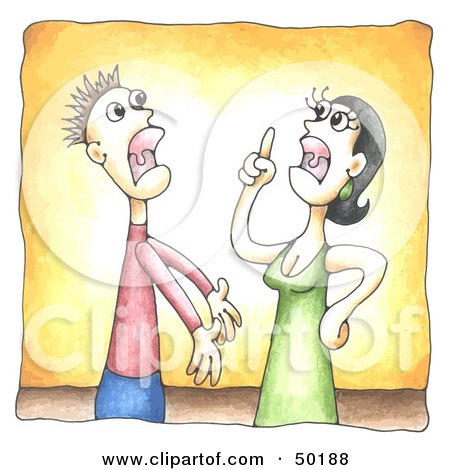 Married Couple Engaged In A Shouting Match Posters, Art Prints