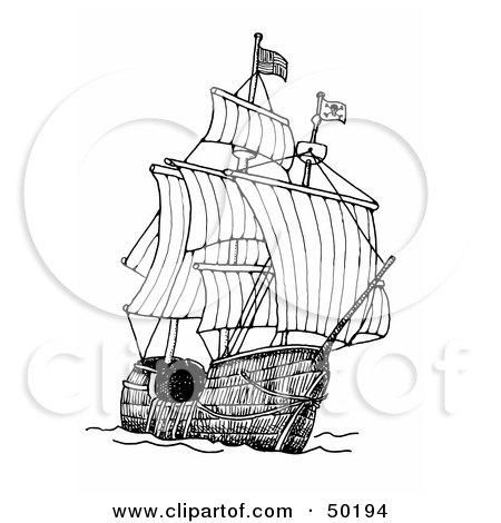 Royalty-Free (RF) Clipart of Pirate Ships, Illustrations, Vector ...