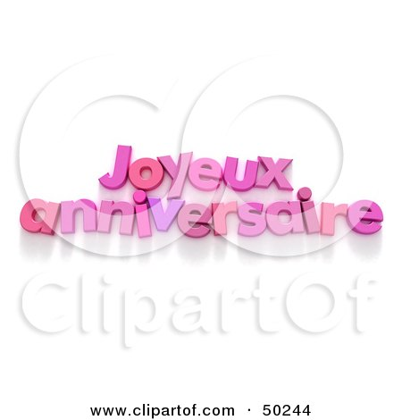 Pnk French Joyeux Anniversaire Happy Anniversary Greeting Posters Art Prints By Interior Wall Decor 50244
