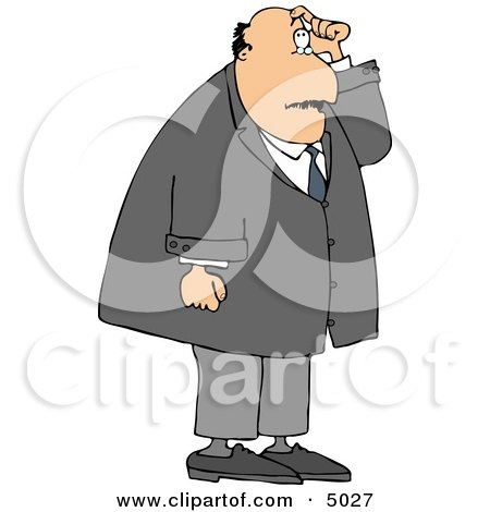 Man with Short Term Memory Scratching His Head While Trying to Remember Something Clipart by djart