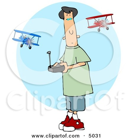 Teenage Boy Flying a Remote Control Model Airplane Posters, Art Prints