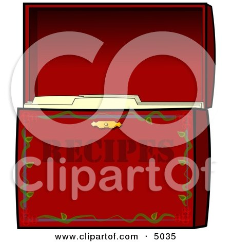 Organized Recipe Box Clipart by djart