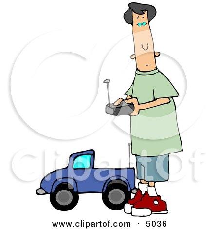 Young Teenage Boy Driving a Remote Control Car Posters, Art Prints