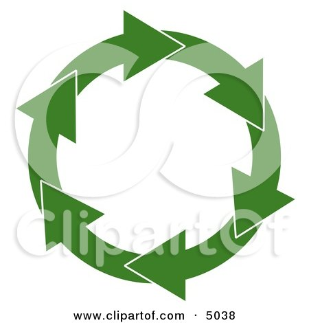 Circular Arrow Recycling Symbol Posters, Art Prints