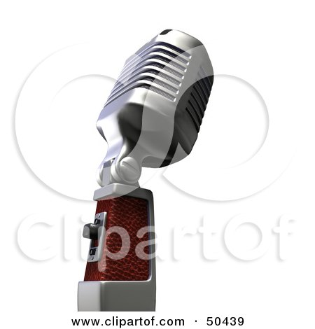 Royalty-Free (RF) 3D Clipart Illustration of a Retro Microphone - Version 3 by Frank Boston