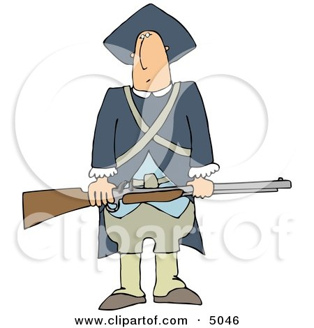 Revolutionary War Soldiers Holding a Loaded Rifle Posters, Art Prints