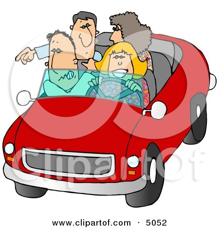 Family and Friends Going On a Road Trip Clipart by djart